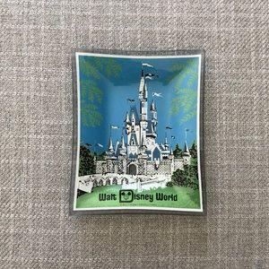 Walt Disney World souvenir glass dish. Vintage 70s